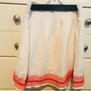 Boho style flowy skirt